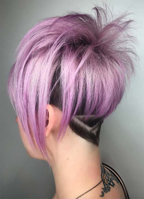 Short Hairstyles for Women: Geometric Undercut