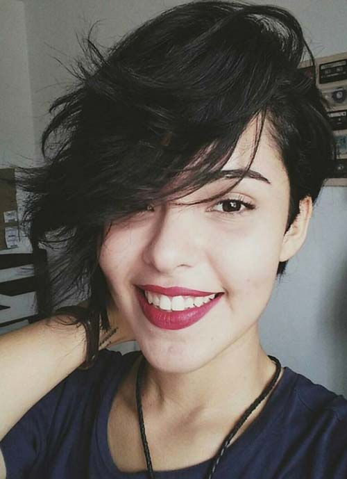 Short Hairstyles for Women: Long Asymmetrical Pixie