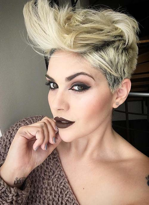 Short Hairstyles for Women: Long Flipped Pixie