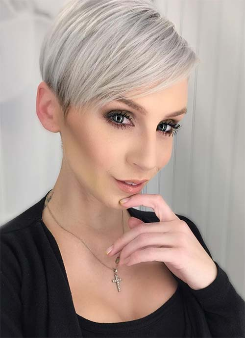 Short Hairstyles for Women: Silver Pixie