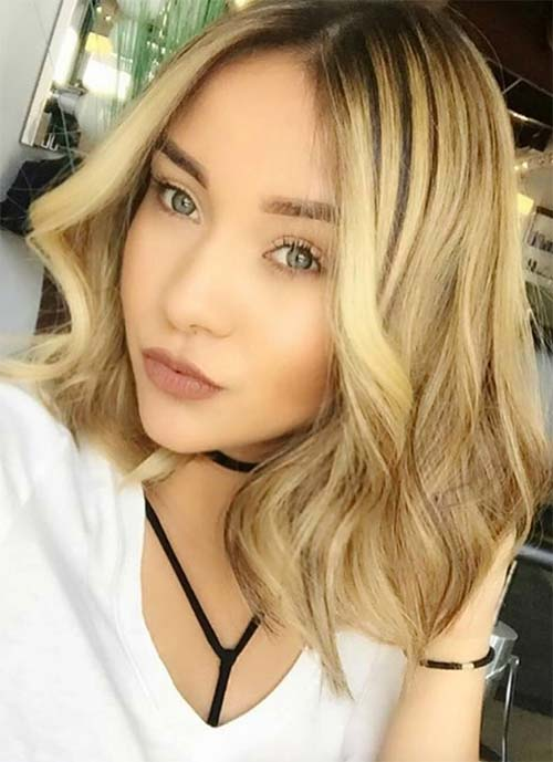 Short Hairstyles for Women: Wavy Lob