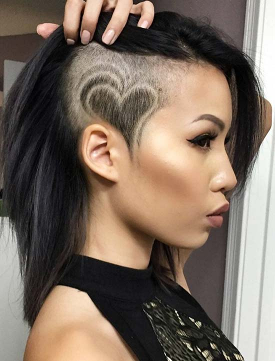 646838a8796bd 45 Undercut Hairstyles with Hair Tattoos for Women | Fashionisers©