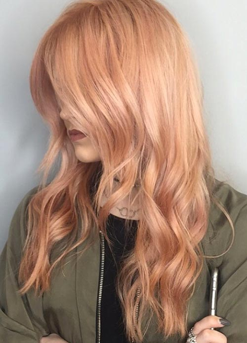 65 Rose Gold Hair Colour The Trend For