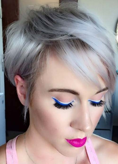 Short Hairstyles for Women with Thin/ Fine Hair: Silver Pixie