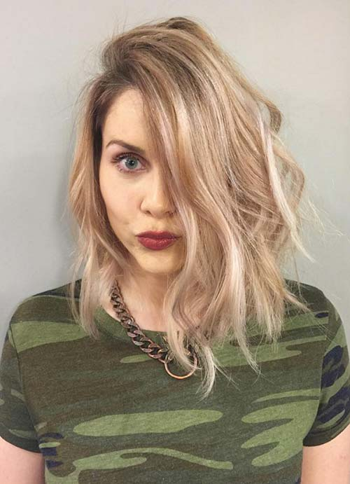 Short Hairstyles for Women with Thin/ Fine Hair: Balayage Bob