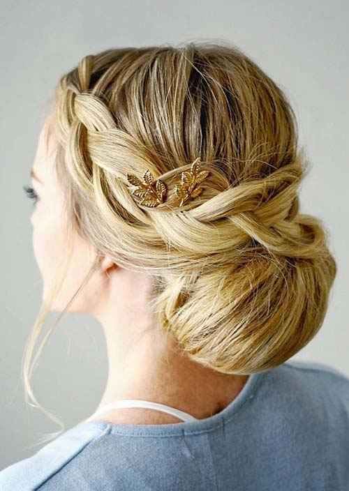 100 Trendy Long Hairstyles for Women: Braided Updo