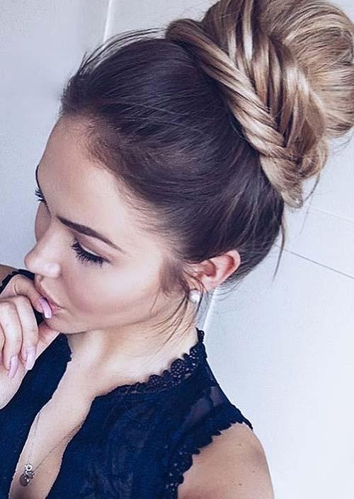 100 Trendy Long Hairstyles for Women: Braided Crown Bun