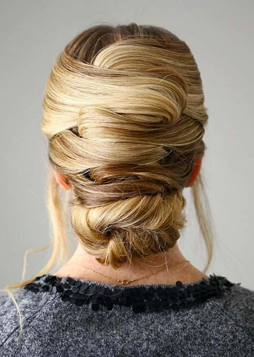 100 Trendy Long Hairstyles for Women: Criss-Cross Updo