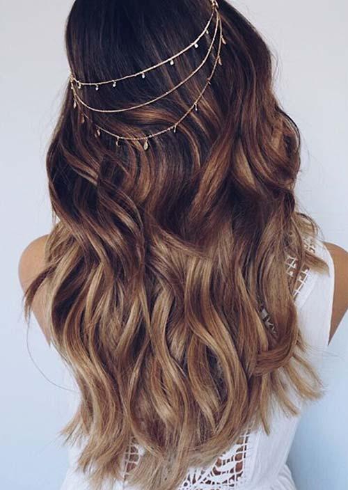 100 Trendy Long Hairstyles for Women: Wavy Long Hair