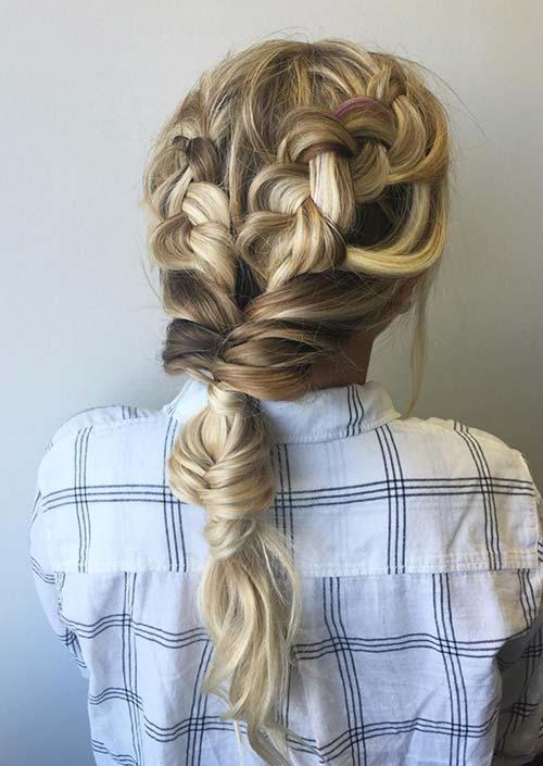 100 Trendy Long Hairstyles for Women: Waterfall Full Braids