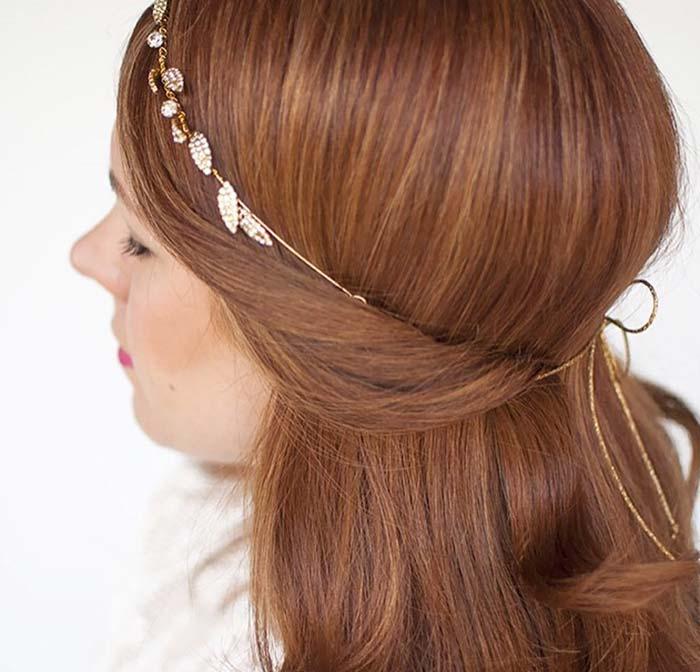 100 Trendy Long Hairstyles for Women: Half Tucked Hair