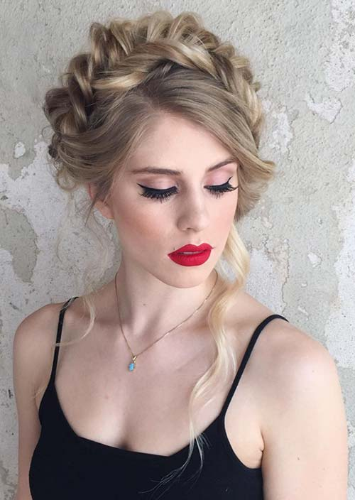 100 Trendy Long Hairstyles for Women: Crown Braid