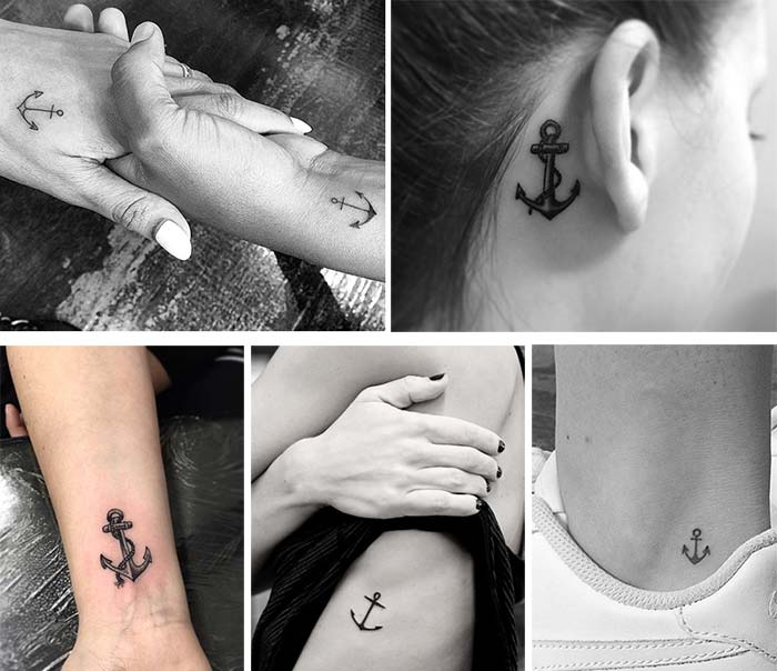 Cute Small Tattoos For Girls With Their Meanings: Tiny Anchor Tattoos