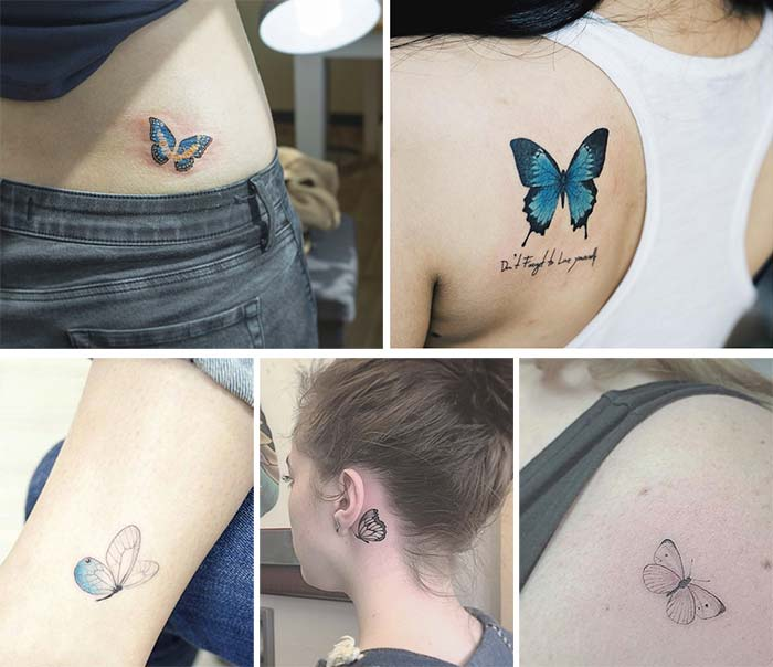 2d5066bb4300f Cute Small Tattoos For Girls With Their Meanings: Tiny Butterfly Tattoos