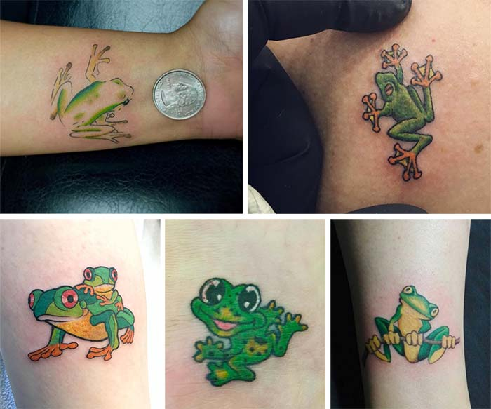 Cute Small Tattoos For Girls With Their Meanings: Tiny Frog Tattoos
