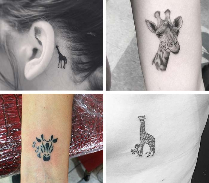 Cute Small Tattoos For Girls With Their Meanings: Tiny Giraffe Tattoos