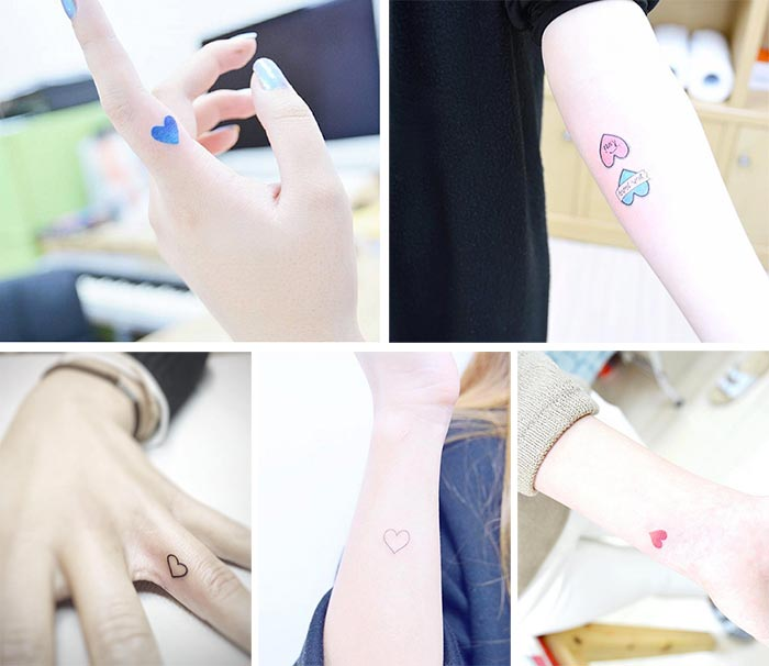 Cute Small Tattoos For Girls With Their Meanings: Tiny Heart Tattoos