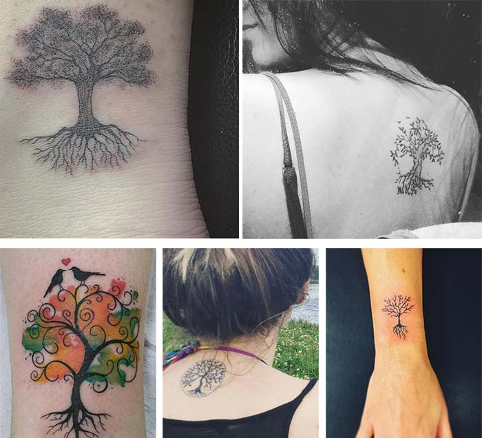 debb3d17da3da Cute Small Tattoos For Girls With Their Meanings: Tiny Tree of Life Tattoos