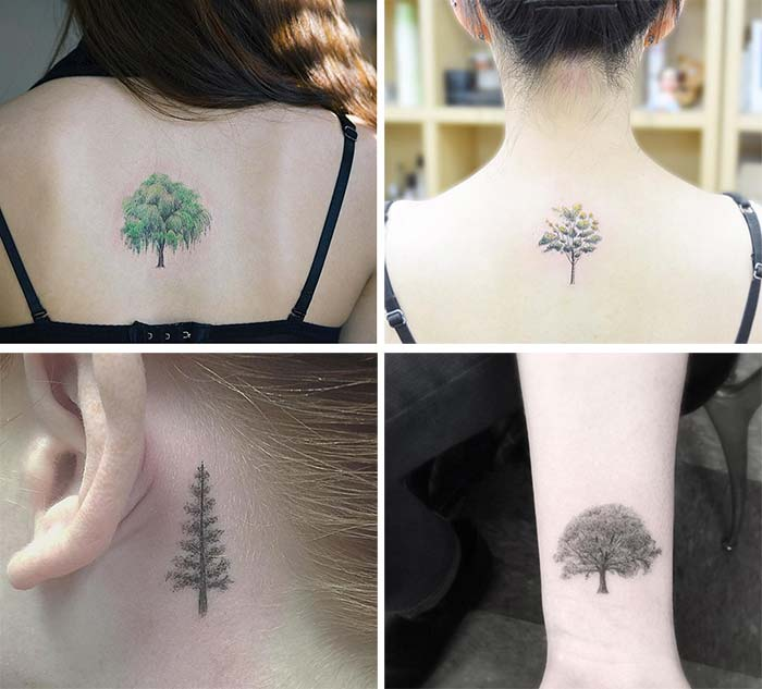 Cute Small Tattoos For Girls With Their Meanings: Tiny Tree Tattoos