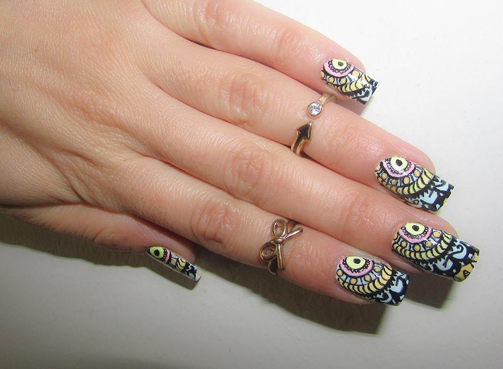16 Tribal/ Ethnic Nail Art Designs That Will Jazz Up Your Bohemian Spirit