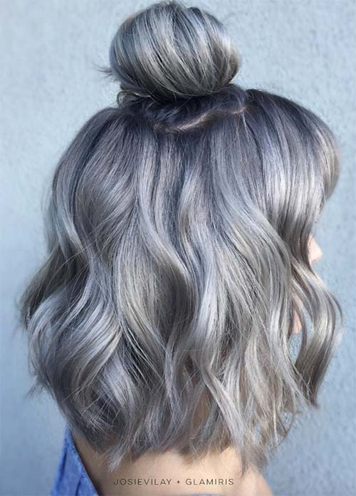 85 Silver Hair Color Ideas And Tips For Dyeing Maintaining Your Grey Hair Fashionisers C Part 29