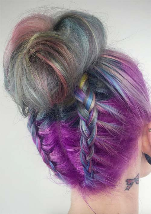 100 Ridiculously Awesome Braided Hairstyles: French Braided Top Knot
