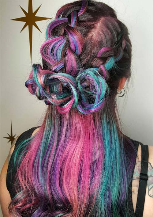 100 Ridiculously Awesome Braided Hairstyles: Triple Rose Braids
