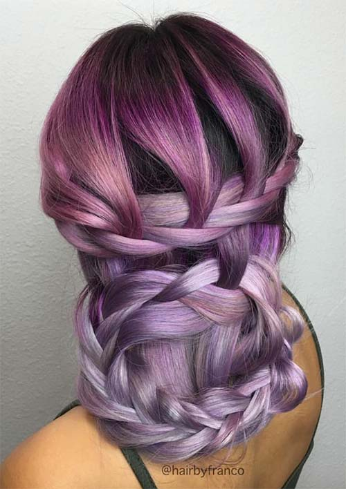 100 Ridiculously Awesome Braided Hairstyles: Woven Braided Updo