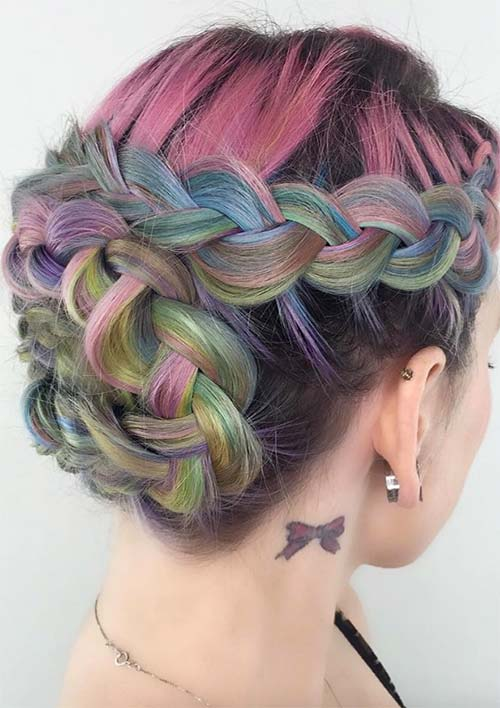 100 Ridiculously Awesome Braided Hairstyles: Braided Wraparound Updo