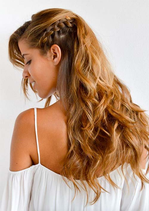 100 Ridiculously Awesome Braided Hairstyles: Small Side Braid