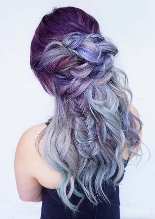 100 Ridiculously Awesome Braided Hairstyles: Textured Messy Braids