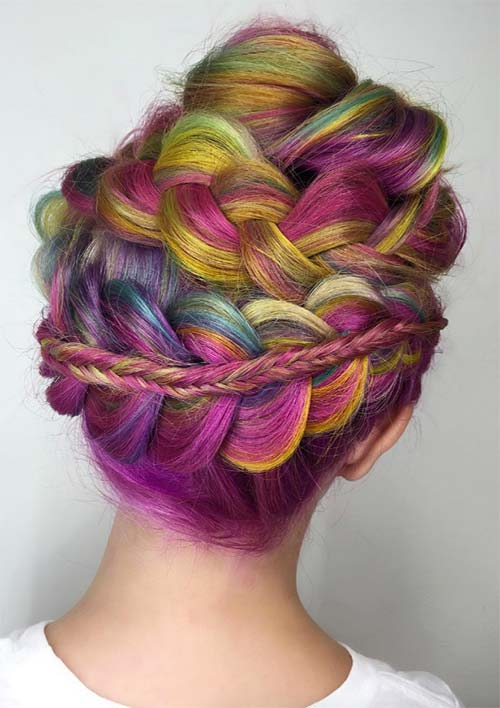 100 Ridiculously Awesome Braided Hairstyles: Pancake Braided Updo