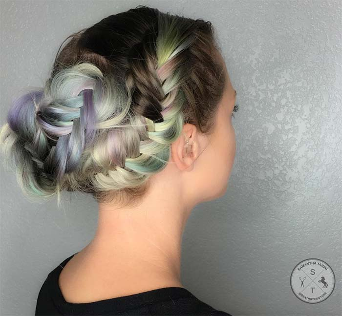 100 Ridiculously Awesome Braided Hairstyles: Snail Shell Braided Updo