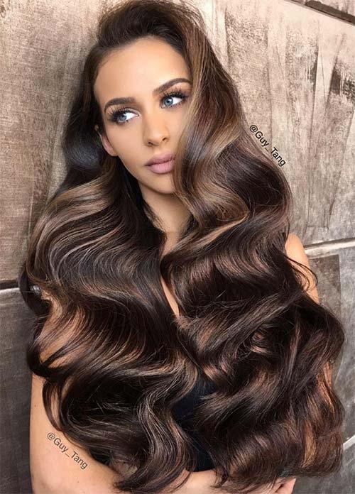 100 Dark Hair Colors: Black, Brown, Red, Dark Blonde Shades ...