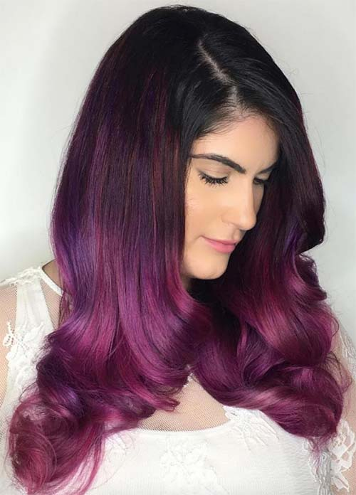 Dark Hair Colors: Deep Purple Hair Colors