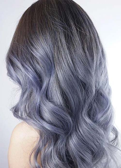 Blue Denim Hair Colors: Pastel Denim Mane