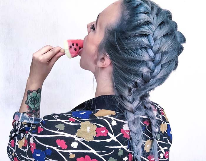 Blue Denim Hair Colors: Double Pastel Trouble