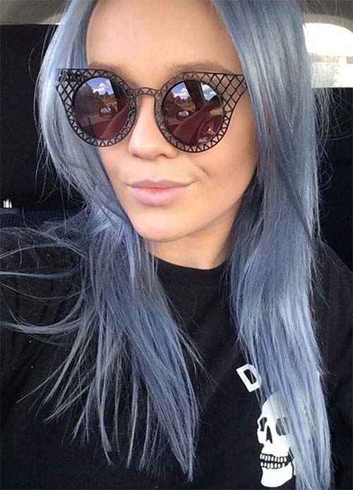 Blue Denim Hair Colors: Pastel Denim Layers