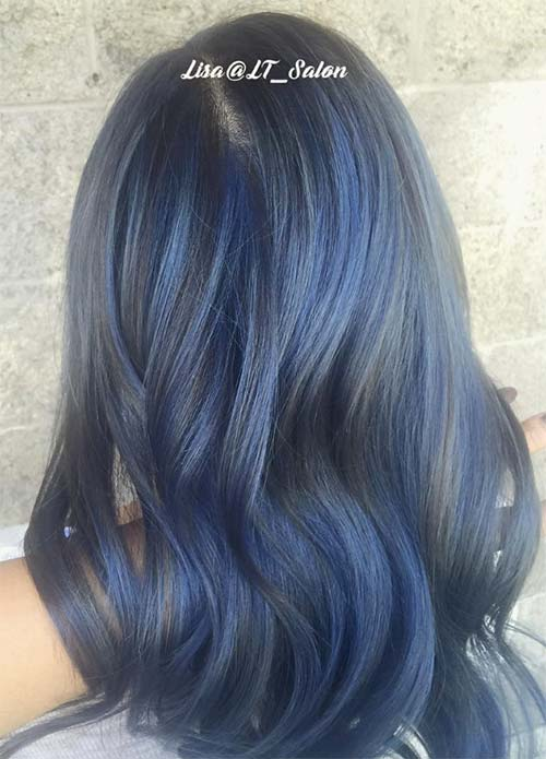 50 Magically Blue Denim Hair Colors You