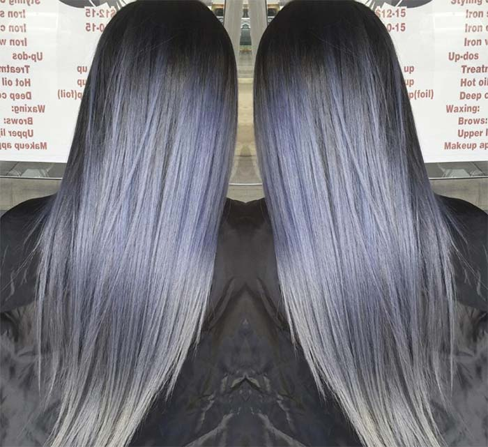 Blue Denim Hair Colors: Blue Jean Rocker