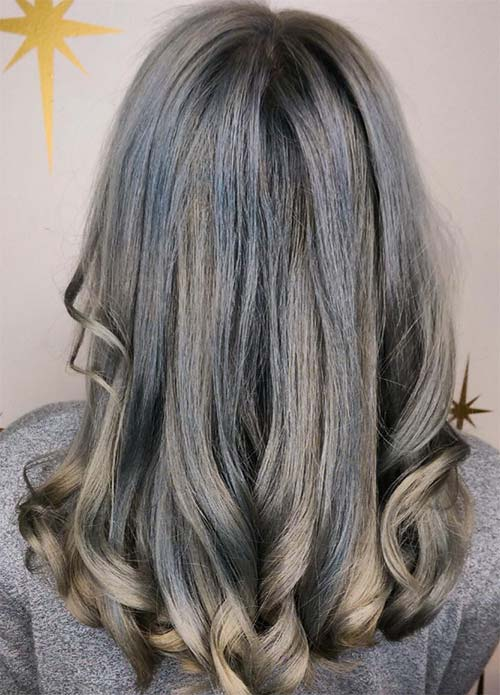 50 Magically Blue Denim Hair Colors You Will Love | Fashionisers©