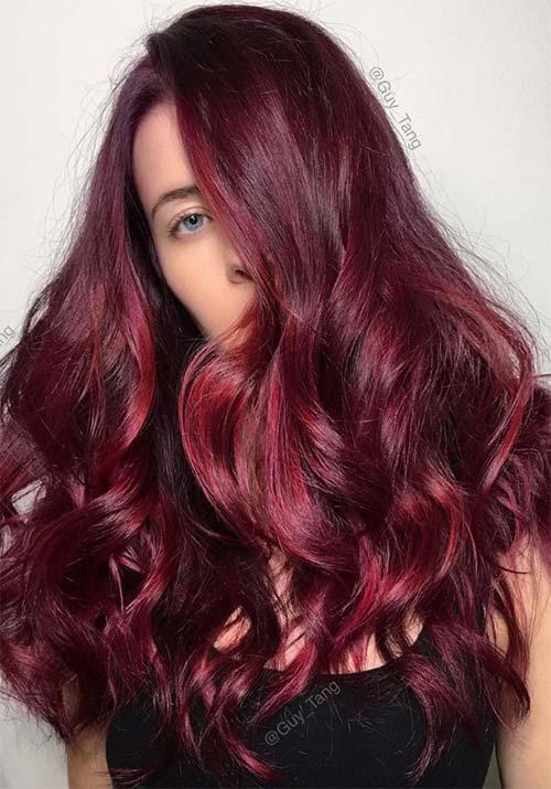 100 Badass Red Hair Colors: Auburn, Cherry, Copper, Burgundy ...