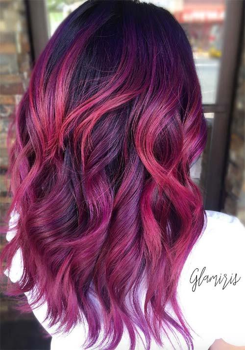 Fashionnfreak Red Violet Hair Color