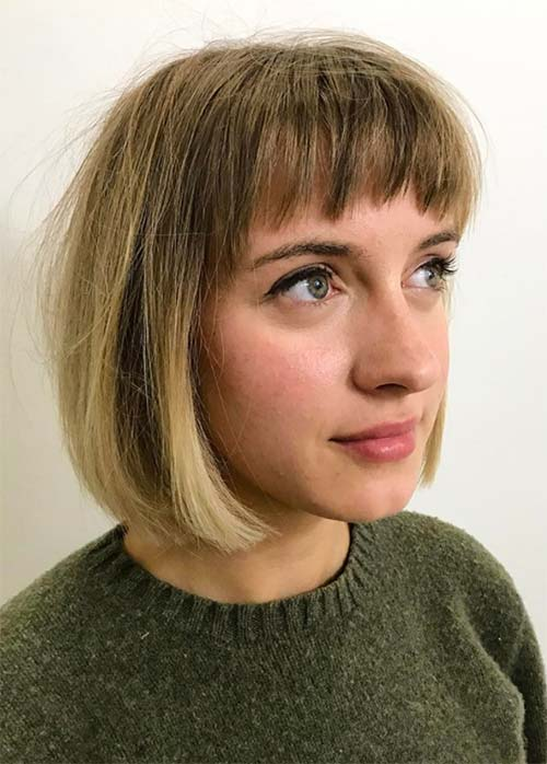 Short Bob Hairstyles & Haircuts With Bangs