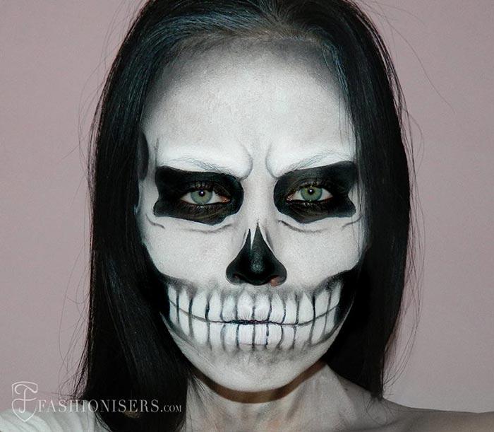 Creative Halloween Makeup Ideas: Lady Gaga Skull Halloween Makeup