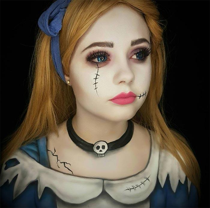 Creative Halloween Makeup Ideas: Zombie Alice Halloween Makeup