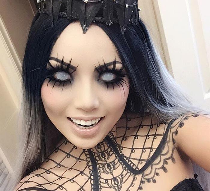 Creative Halloween Makeup Ideas: Dark Queen Halloween Makeup