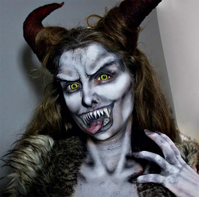 Creative Halloween Makeup Ideas: Krampus Halloween Makeup