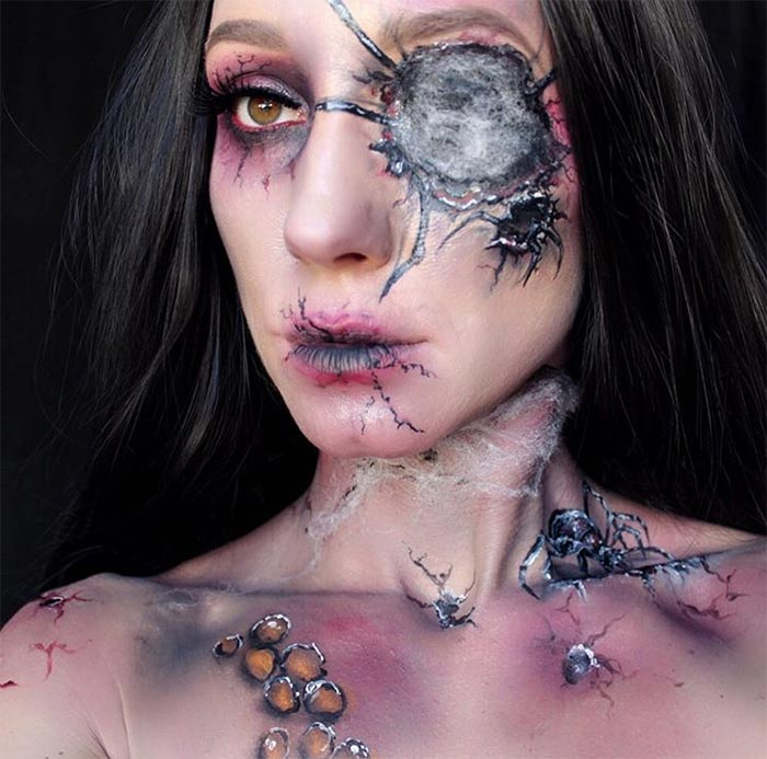 Creative Halloween Makeup Ideas: Spiderweb Halloween Makeup