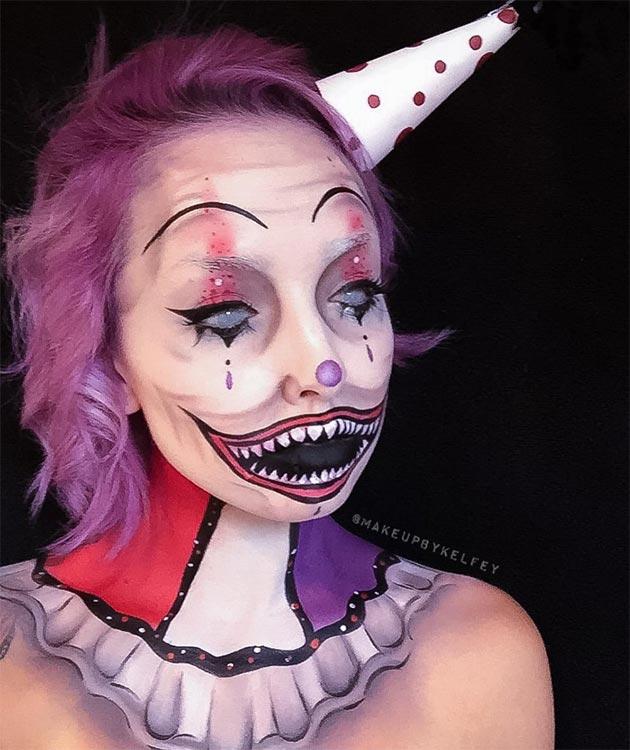 Creative Halloween Makeup Ideas: Vintage Clown Halloween Makeup